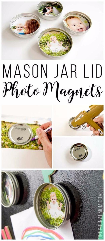 Újrahasznosított mágneses befőttesüveg fedelek