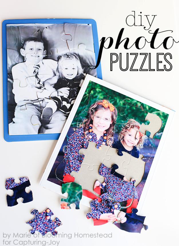 Személyre szabott puzzle családi fotóból