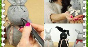 Hogyan készíts zokniból nyuszidekorációt