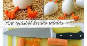 ÚJ oktatóvideó - Főtt tojásból kreatív tálalás
