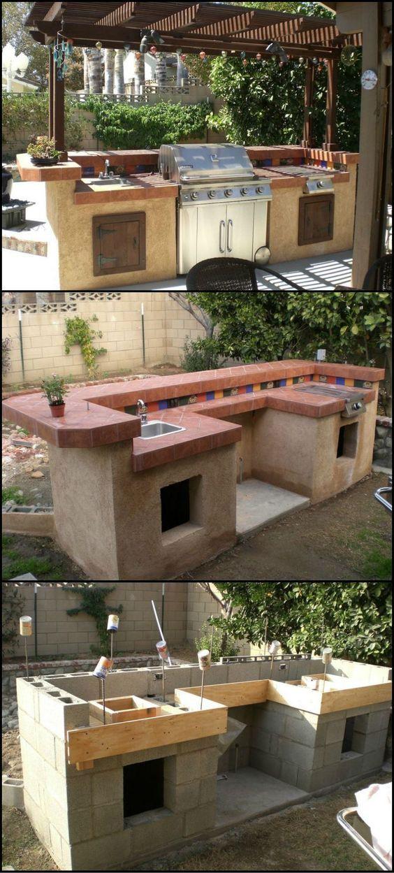 DIY kerti grillező és konyha