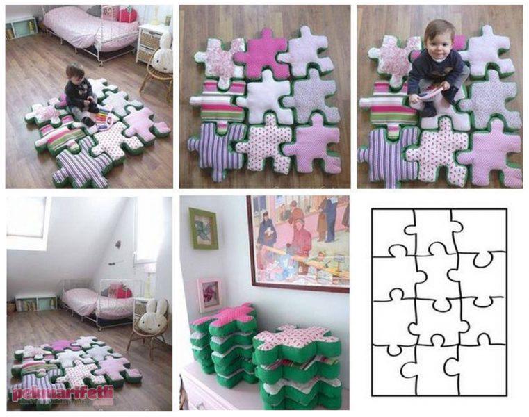 kirakós puzzle párnák gyerekszobába padlóra