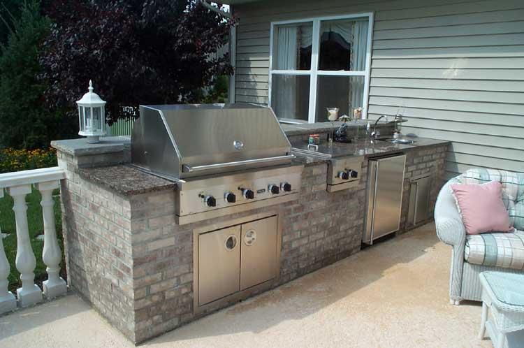 teraszos, márványos grill konyha