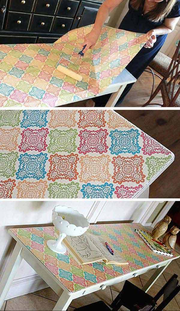 12. Borítsd le az asztal tetejét csomagoló papírral, hogy elegánsan dekorálhasd