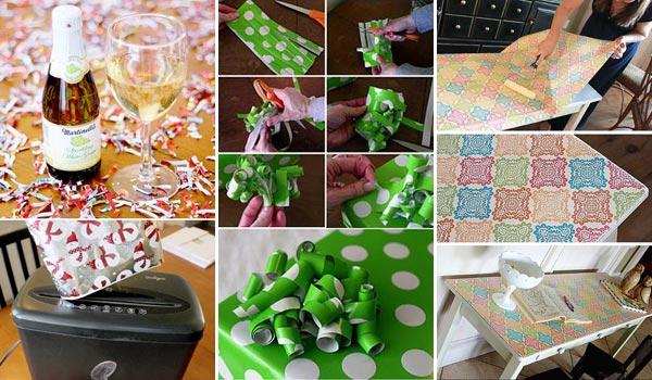 17 zseniális ötlet, maradék ünnepi csomagoló papír újra hasznosításához