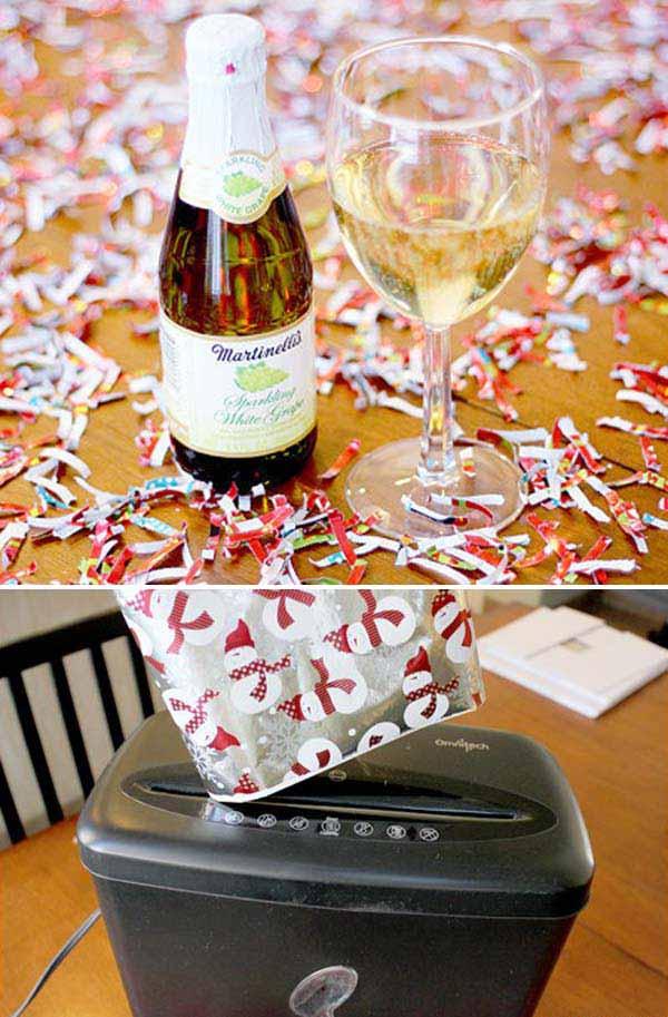 2.Készítsünk saját confettit a következő szilveszteri partyra