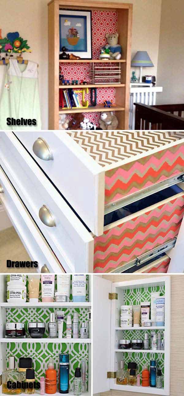 3.Dekoraljuk kedvünkre az egyszerű polcainkat, szekrényeinket, hogy feldobjuk őket egy kicsit