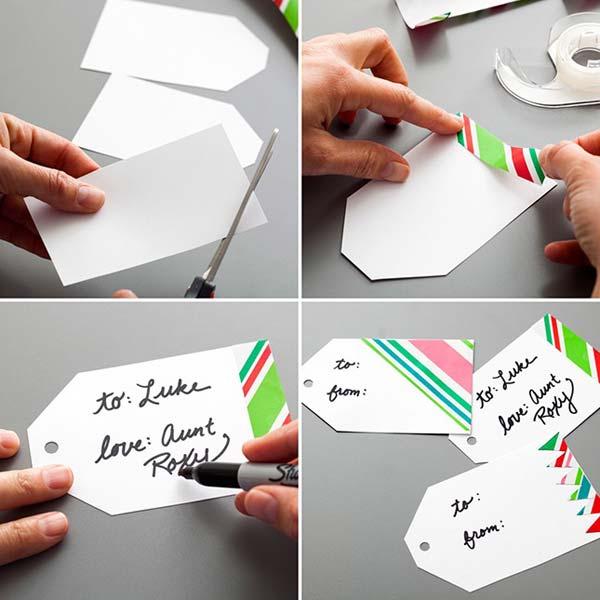 6. Készítsünk ajándék címkéket . Tökéletes ötlet születésnapi, esküvői, vagy bármilyen ajándék kiegészítőjének.