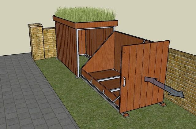 Hogyan építsünk praktikus kerékpár tárolót-6