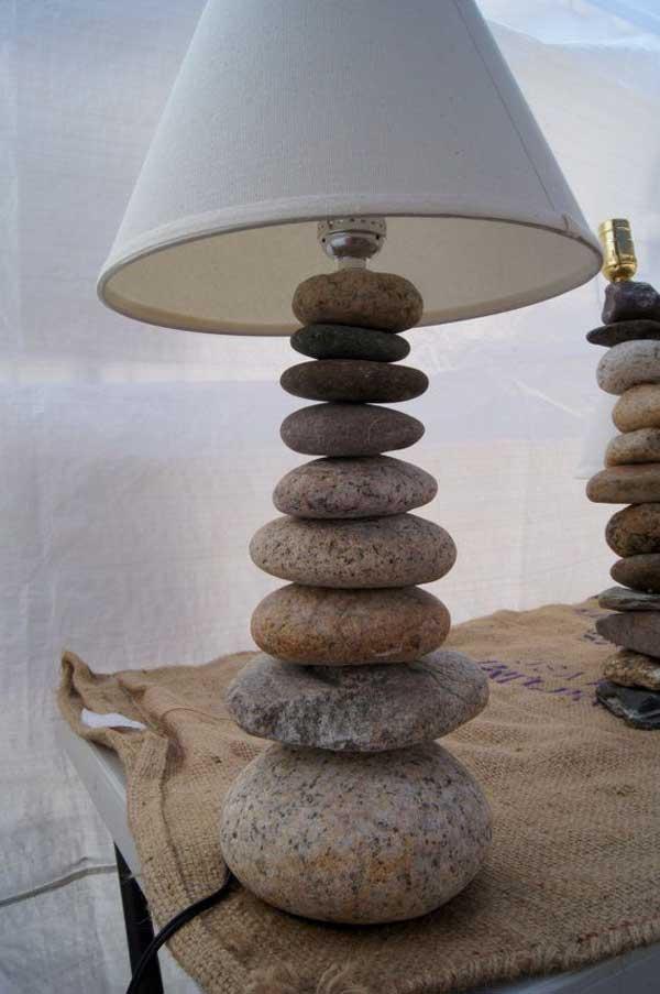 Éjjeli lámpa kövekből