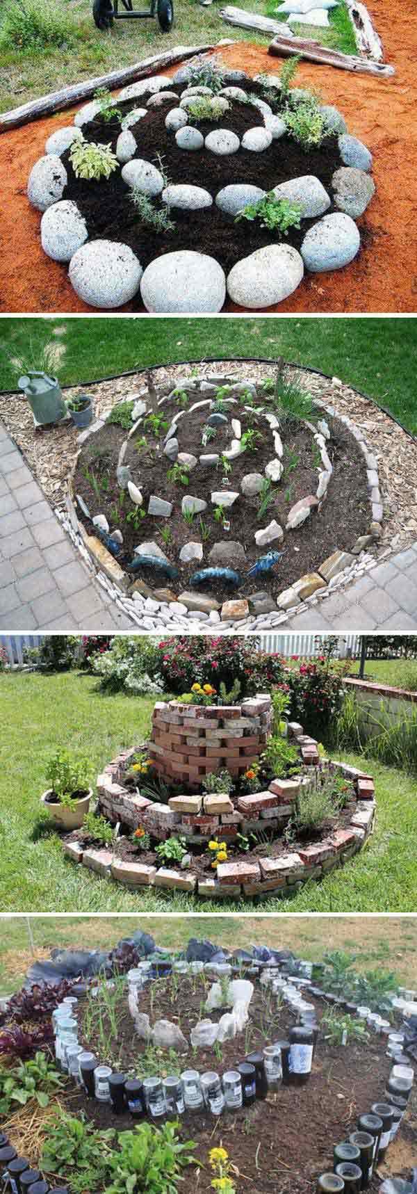 3. A spirális kert nagyon szuper kinézetű és kiválóan működik a korlátozott helyiségű kertekben