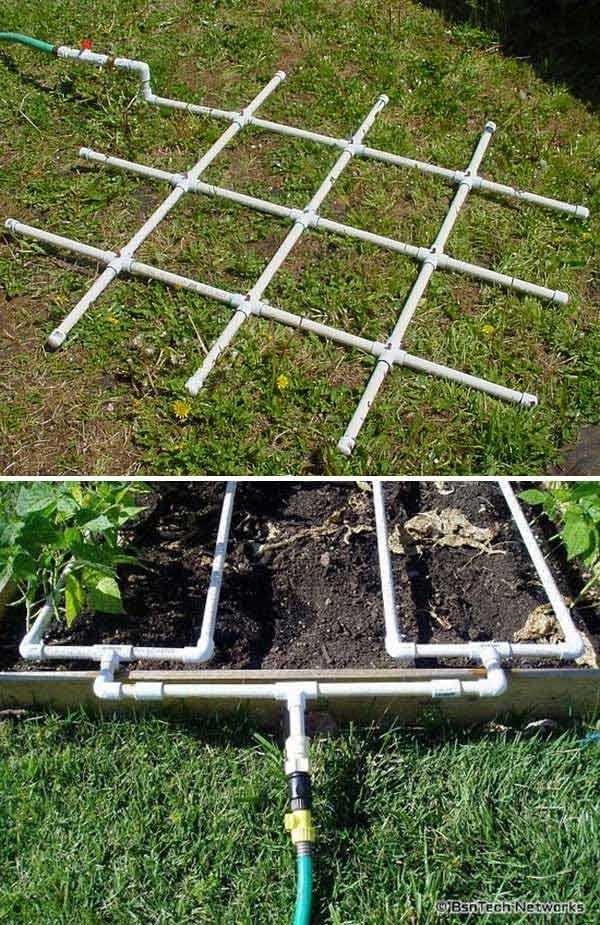 3. Ez a PVC öntöző rács segít hatékonyabbá tenni a kerti öntözést