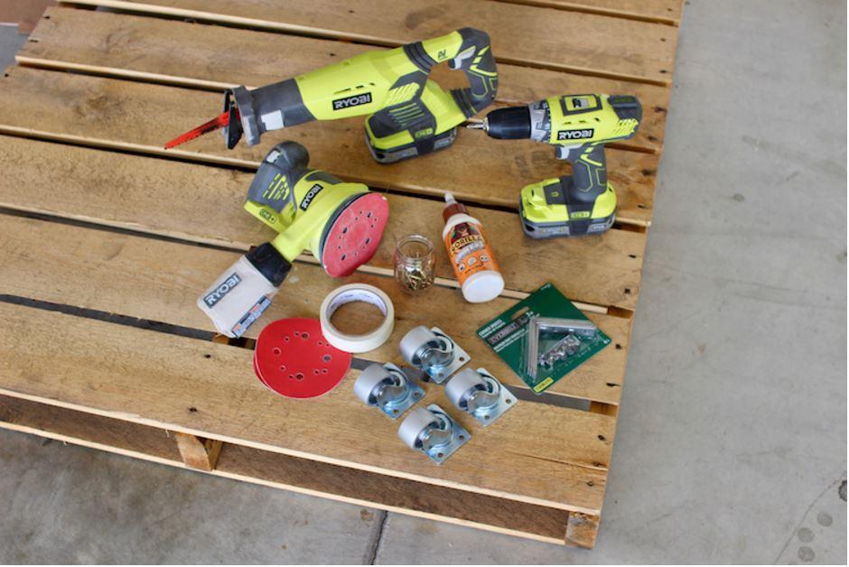 Eszközök és anyagok a kutyaágyhoz
