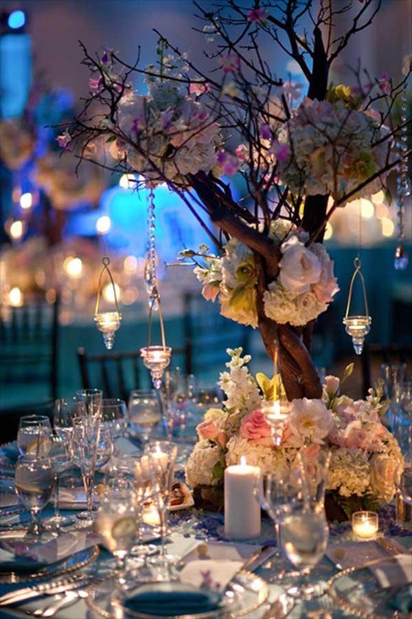 Fa dekoráció az asztalon