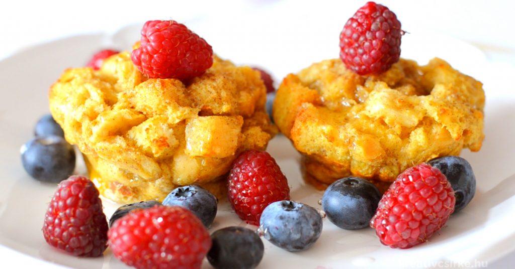 Fahéjas toast muffin