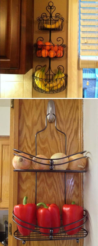 28. Takaríts meg helyet a konyhádban ezzel a 3 szintes vasból készült gyümölcs tartóval vagy egy zuhanytálcával