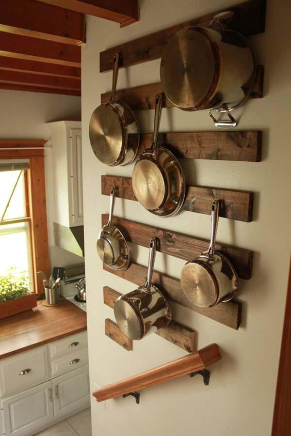 29. Kreatív módja az edények és serpenyők felakasztásához