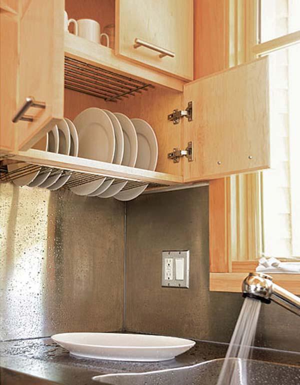 3. A szekrénybe szerelt szárító egy nem elektromos készülék, melynek segítségével megszáríthatod a tányérokat, edényeket