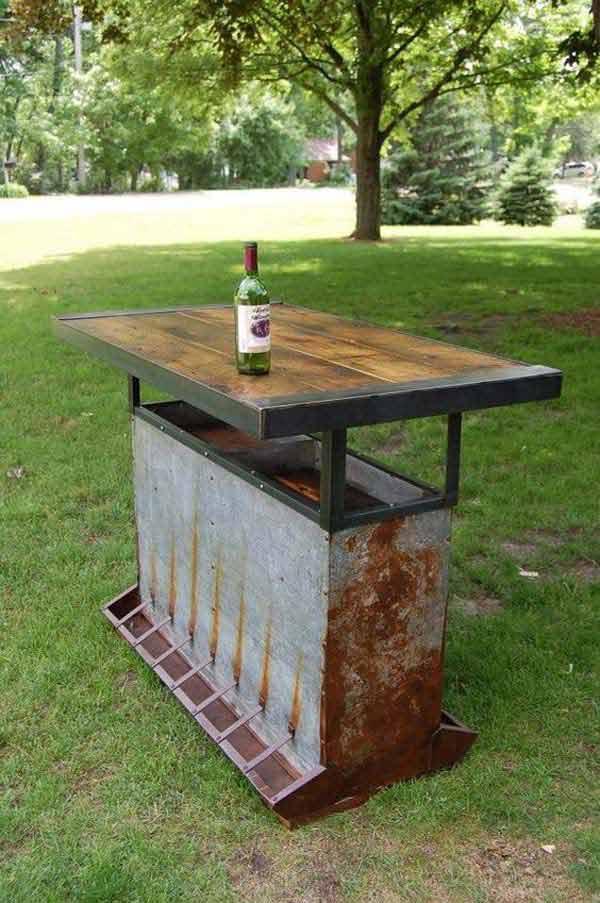 4. Kerti asztal
