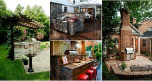 21 ötlet, hogyan építsünk ki grillezőhelyet a kertben vagy a teraszon (2)