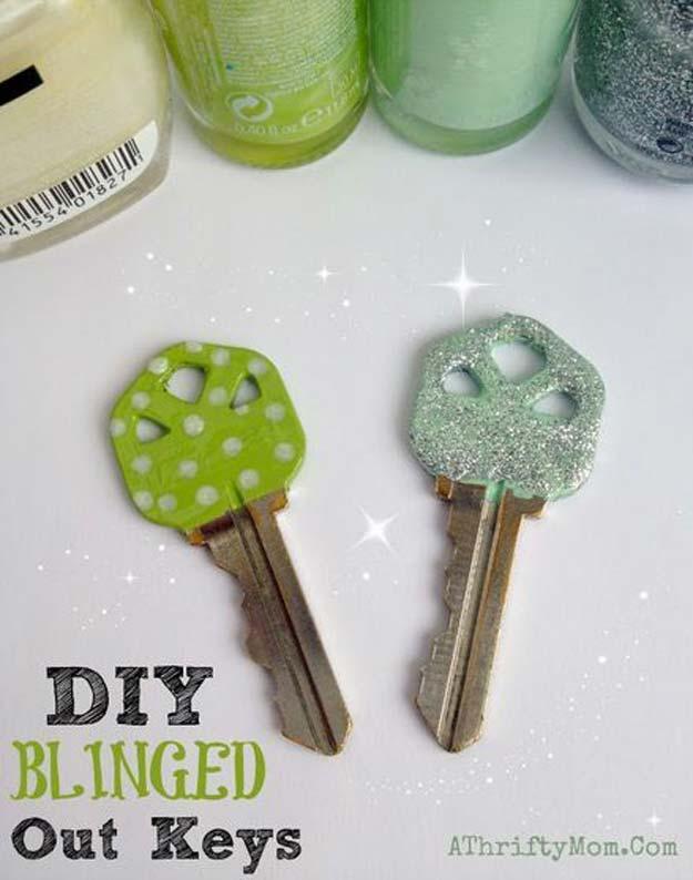 7. DIY Színes kulcsok