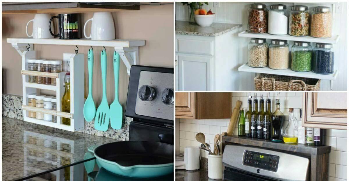Érdekes és praktikus polc ötletek konyhába
