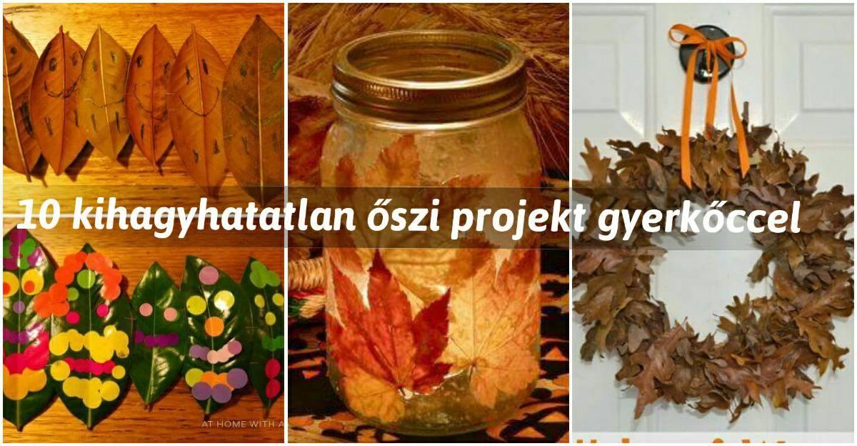 10 kihagyhatatlan őszi projekt gyerkőccel