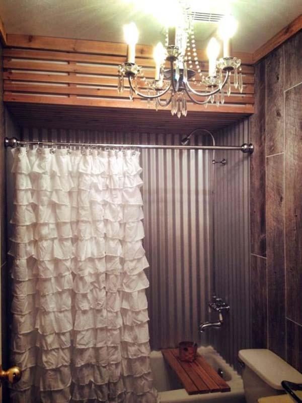 2. Csipkecsoda az ipari stílusú fürdőszobában
