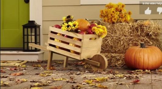 3. Rusztikus őszi talicska