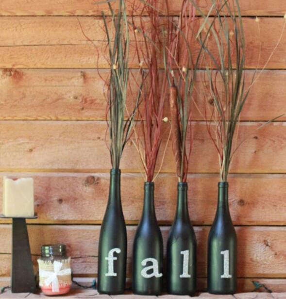 5. Díszítő boros üvegek