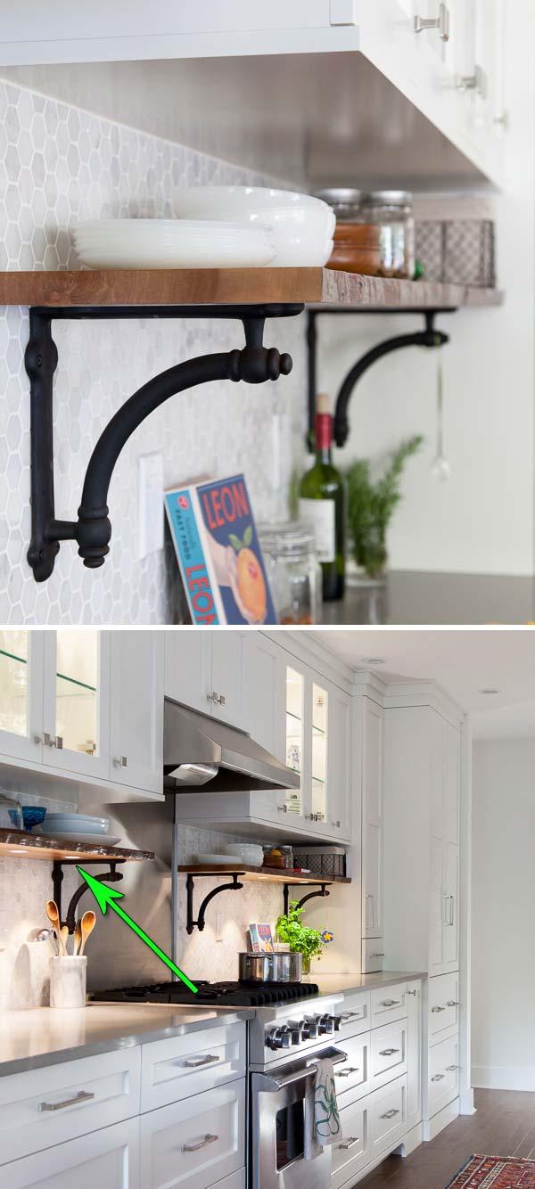 8. Spotlámpák a polc aljában, ha fényárban úszó konyhára vágyik