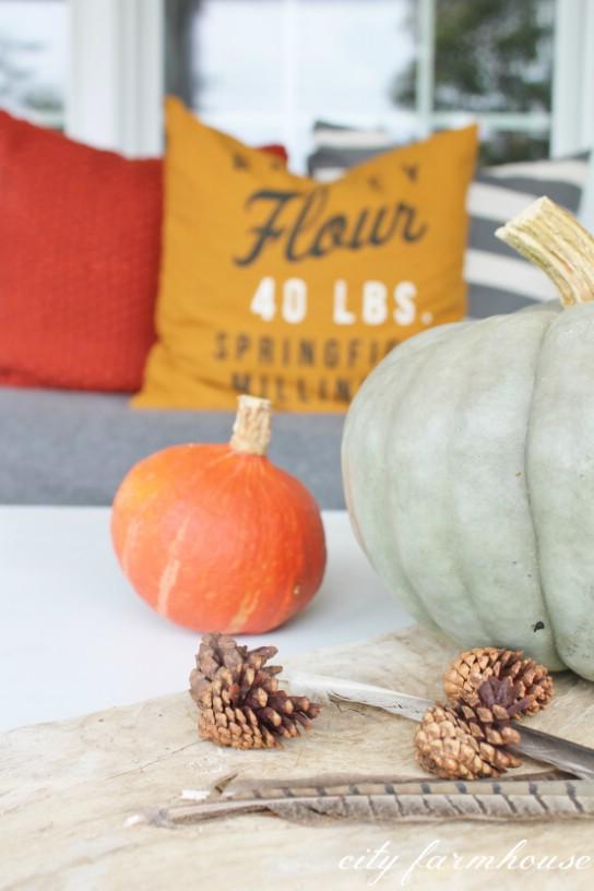 1. Egyszerű őszi asztaldísz