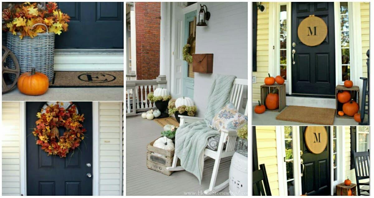 10 őszi dekorációs ötlet a bejárati ajtó környékére, amikért biztosan bezsebelheti szomszédai irigy pillantásait