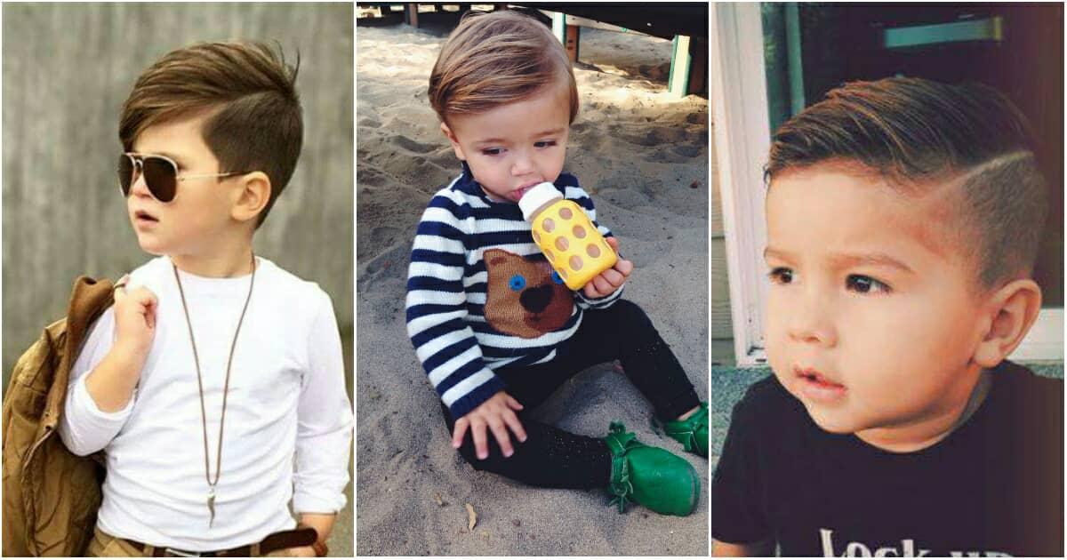 45cc933b59 10 szuper divatos, elbűvölő és egyedi frizura ötlet kisfiúknak ...