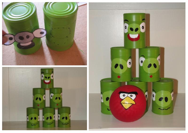 1. DIY Angry Birds ajándék