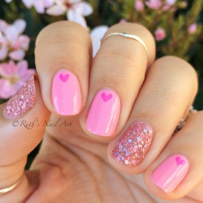 1. Rózsaszín szívecskék
