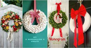 10 saját készítésű karácsonyi bejárati ajtódísz, amelyet mindenki csodálni fog