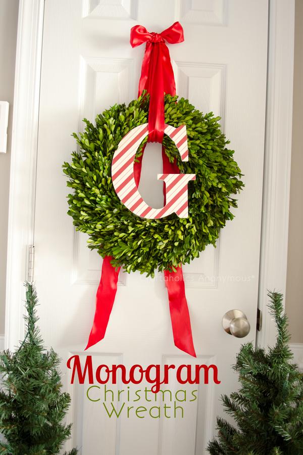 3. Karácsonyi monogramos koszorú