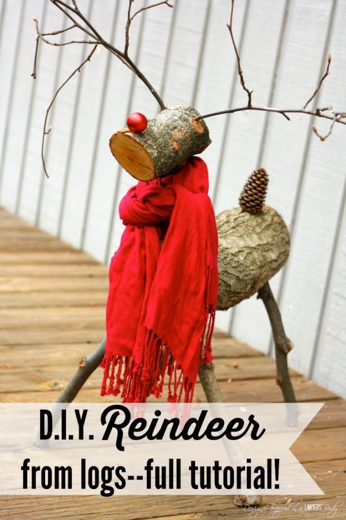 4. DIY karácsonyi szarvas rönkökből