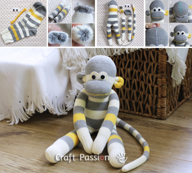 6. Kicsi majom zokniból