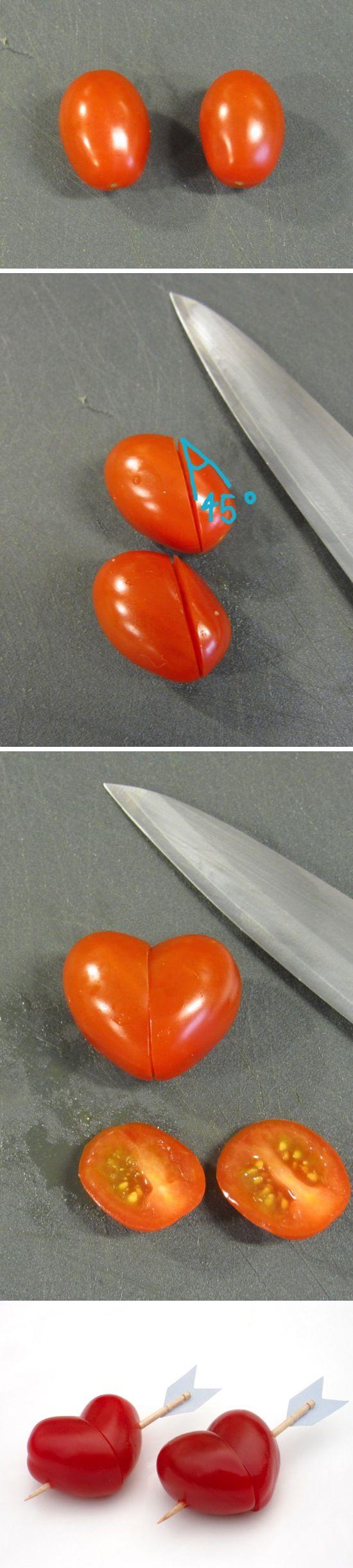 6. Koktélparadicsomból szívecske