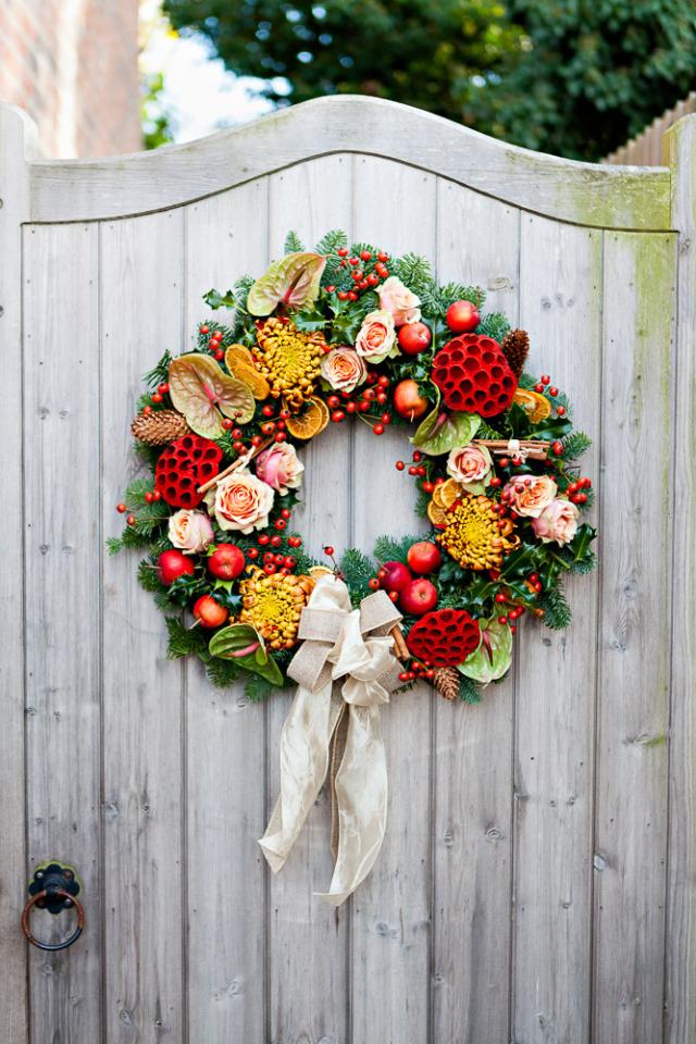 9. Tradicionális karácsonyi koszorú