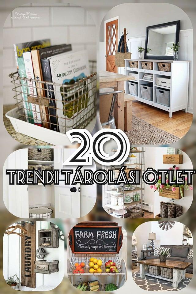 20 egyszerűen kivitelezhető trendi tárolási ötlet, amik csak Rád várnak! pin