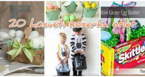 20 húsvéti kosárka ötlet a frissen festett tojásaidnak