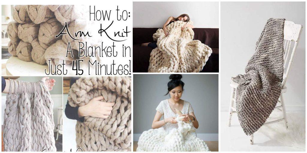 15 DIY pihe-puha kötött takaró, amihez nem kell tudni kötni